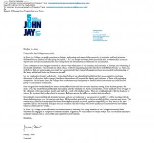 John Jay College SJP statement